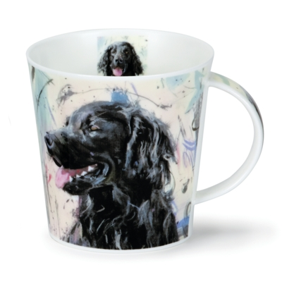 C/GORM DOGS ON CANVAS FLAT COAT RETRIEVER