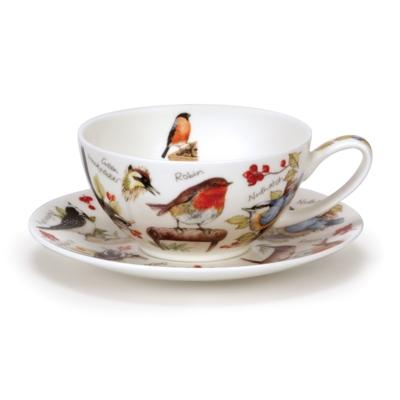 T41 Cup & Saucer Flowers & Birds