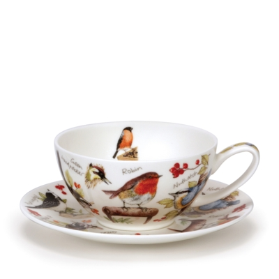 TEA FOR ONE CUP/SAUCER BIRDLIFE