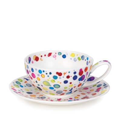 TEA FOR ONE CUP/SAUCER SPLAT!