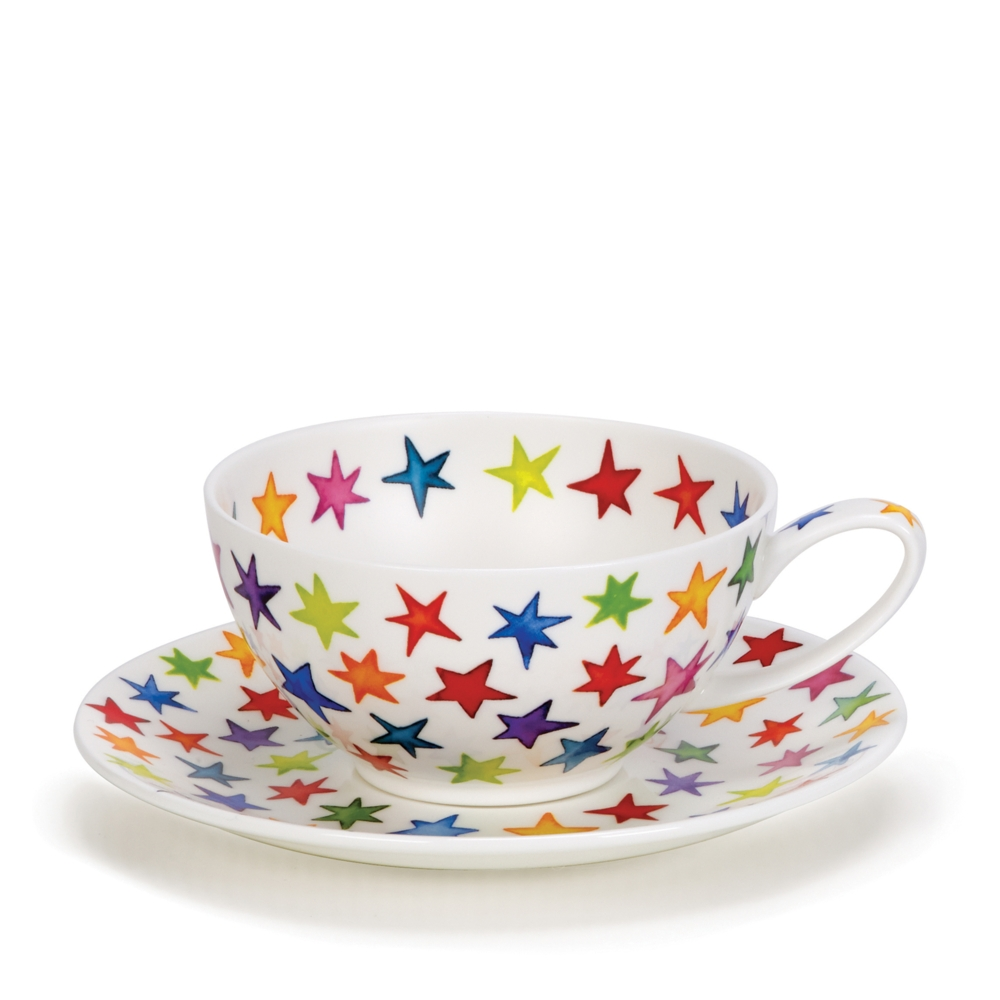 TEA FOR ONE CUP/SAUCER STARBURST