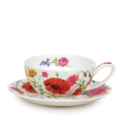 TEA FOR ONE CUP/SAUCER WILD GARDEN