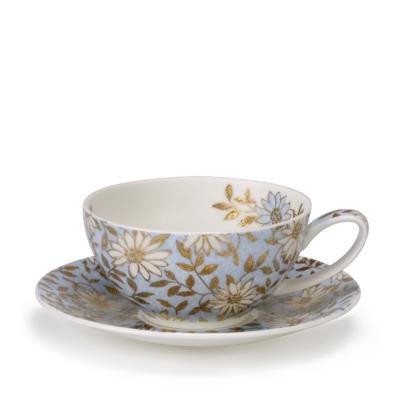TEA FOR ONE CUP/SAUCER AQUA