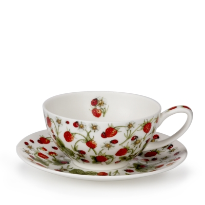 TEA FOR ONE CUP/SAUCER DOVEDALE STRAWBERRY