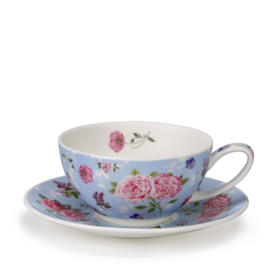 TEA FOR ONE CUP/SAUCER FLEUR