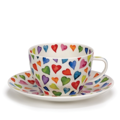 B/FAST CUP/SAUCER WARM HEARTS