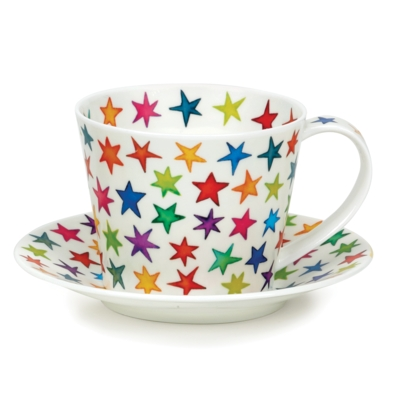 ISLAY CUP/SAUCER STARBURST