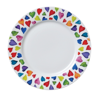 PLATE WARM HEARTS