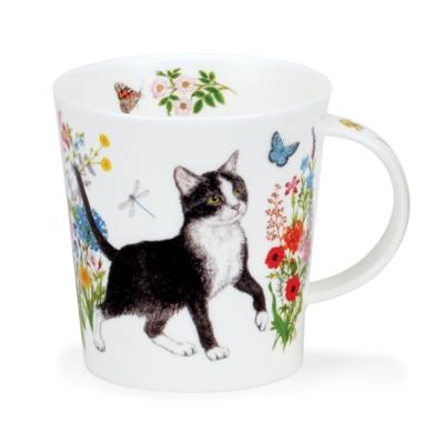 LOMO FLORAL CATS B & W